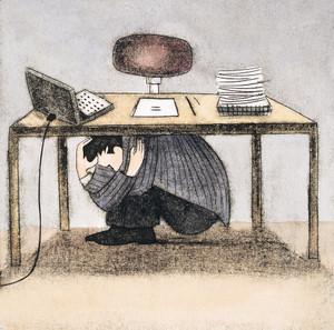 Hiding-under-desk